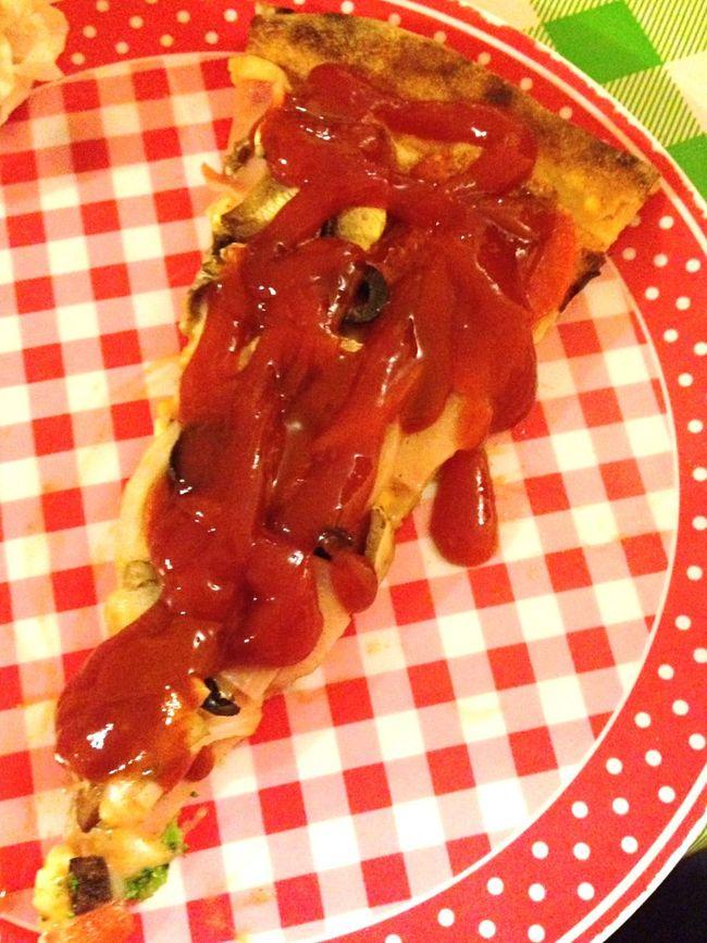La catsup sabe mejor con un poco de pizza 🍕 Mario Special