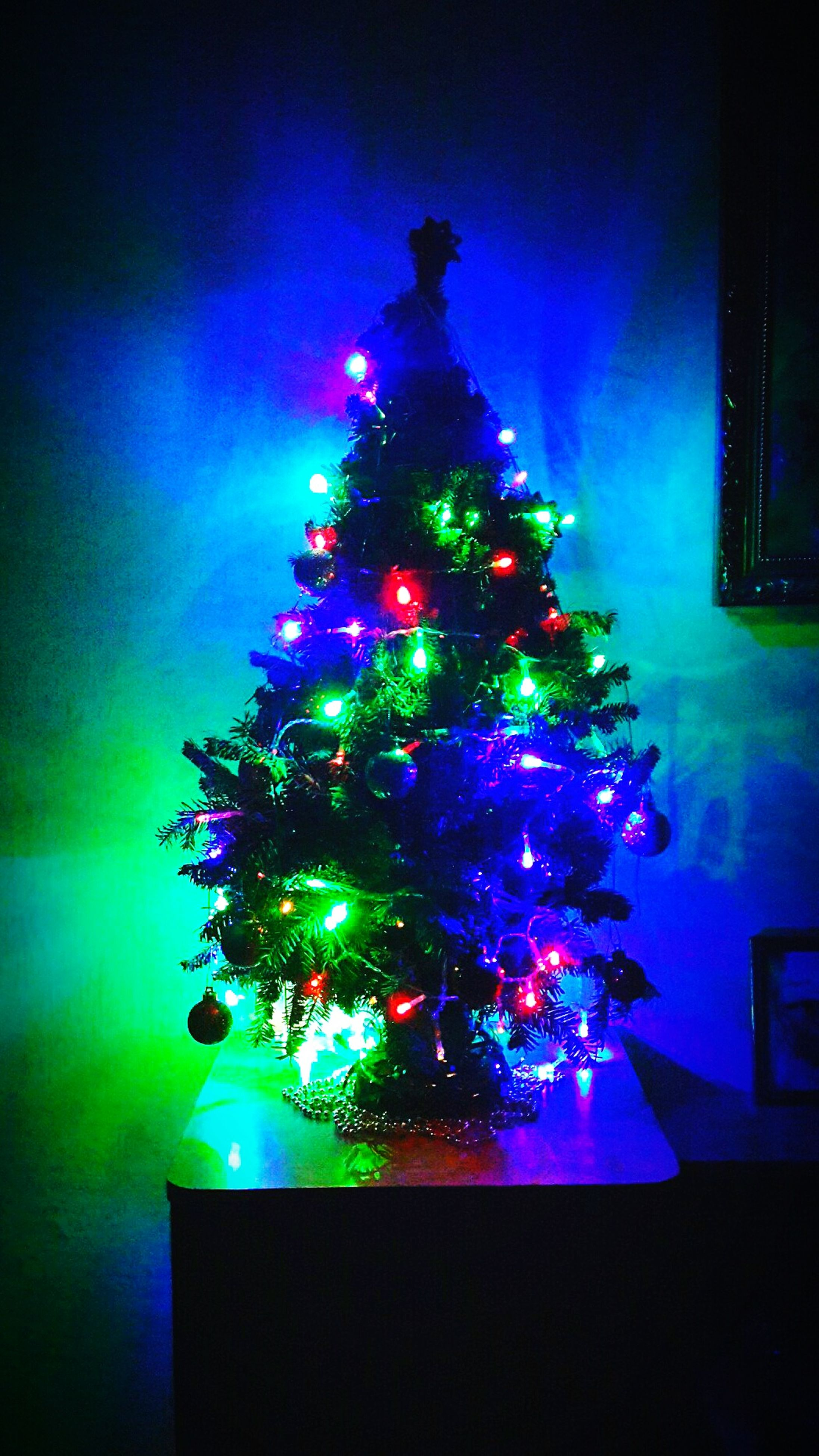 illuminated, night, celebration, lighting equipment, decoration, multi colored, christmas decoration, glowing, light - natural phenomenon, christmas, indoors, built structure, architecture, christmas tree, light, christmas lights, decor, building exterior, low angle view, firework display