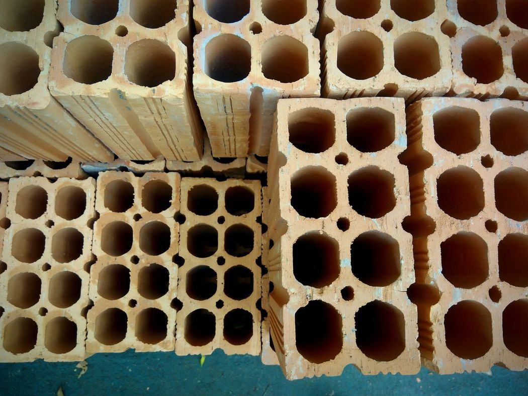 EyeEm Selects Day No People Pattern Close-up Honeycomb Outdoors Tijolo Tijolos Lifestyle Construction Site