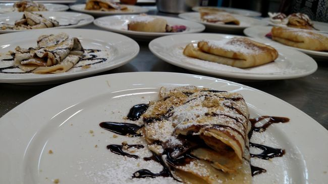 Dessert Desserts Food Crepe Kitchen Whipcreme French Frenchfood STAINLESSSTEEL Choclate
