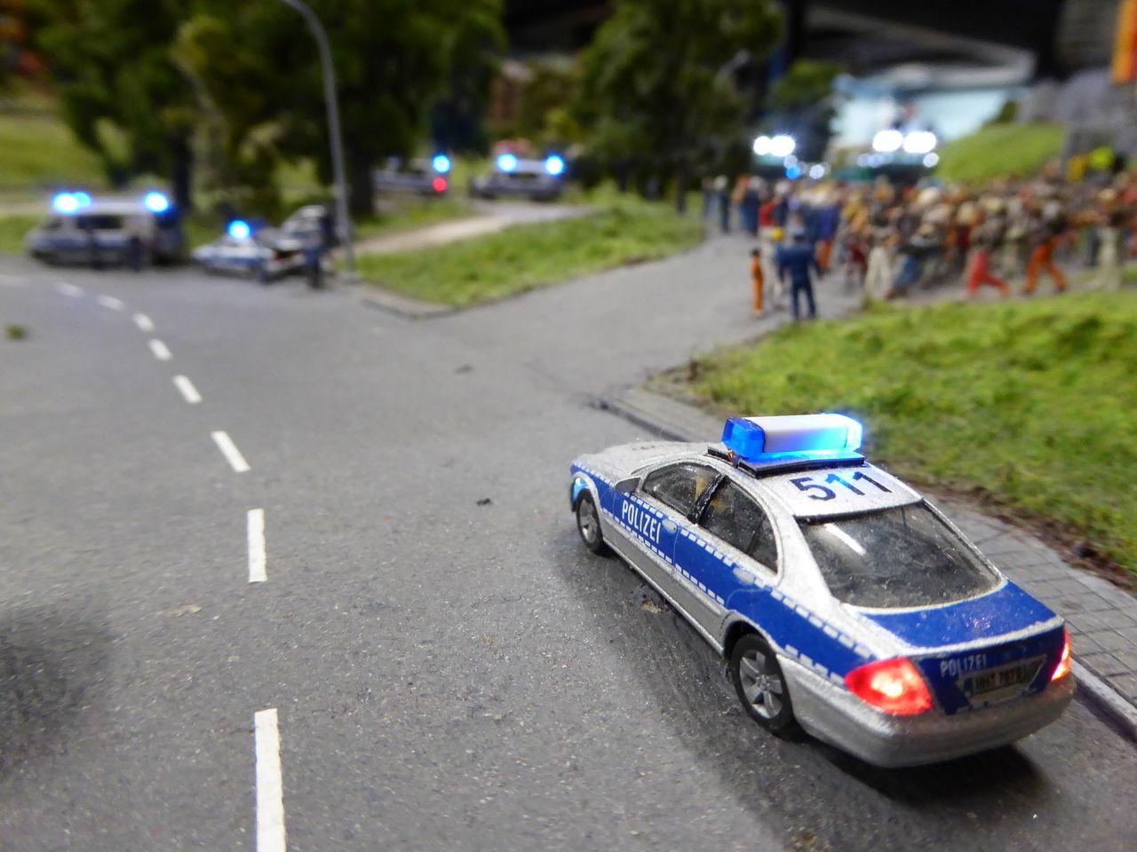Car Day Hamburg Land Vehicle Miniaturwunderland No People Outdoors Street Transportation Police Polizei Polizeieinsatz Police Car
