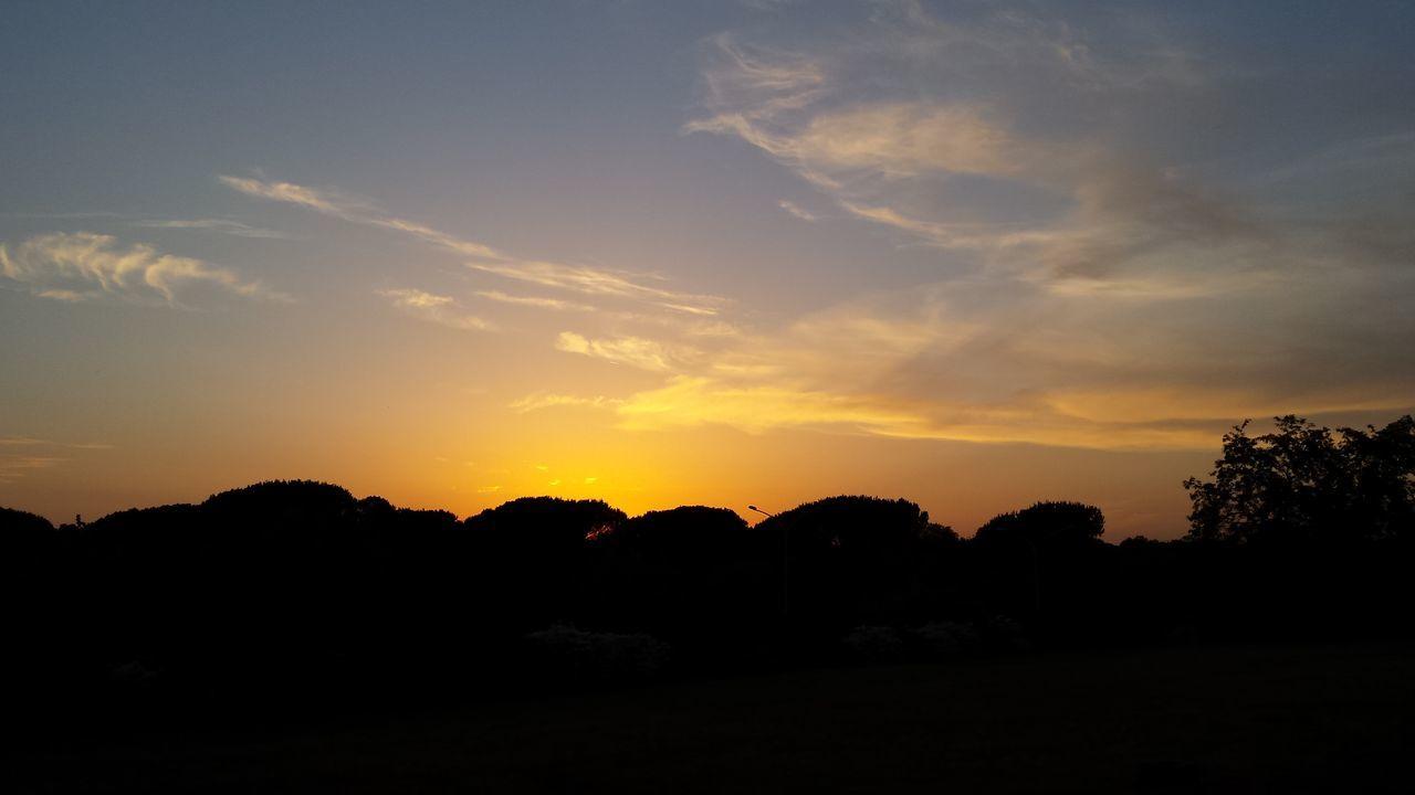 Himmelüberrom Romamia Bellaroma Villapamphili Amici Estate Lauesommerabende Tramonto Sonnenuntergang