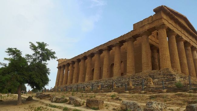 Agrigento Agrigento Sicily Architecture Old Ruin History Sky Travel Destinations Ancient Civilization Famous Place Tourism Architectural Column Archaeology Tree The Past Sicily Sicilia Italia Italy