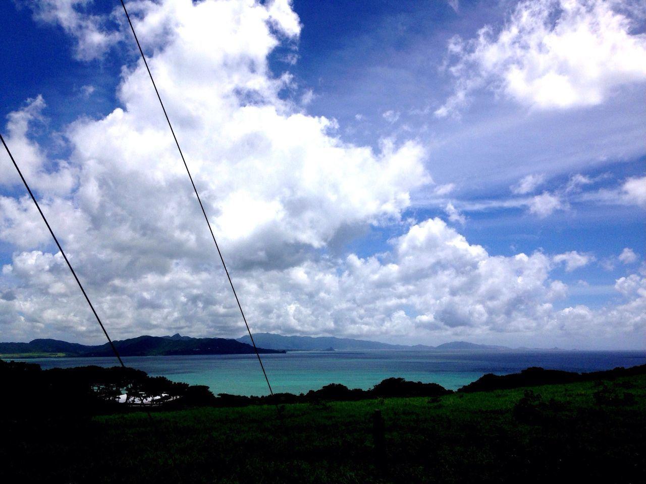 Ocean Blue Ocean On The Road