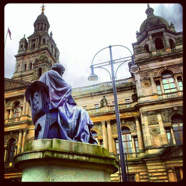'George Square' Georgesquare Glasgow  Scotland CityChambers Sculptures buildingporn Architecture architectureporn Historical statues Cloudporn skyporn igscout igscotland igtube igaddict Igers igdaily Tagstagram most_deserving instagood instagrammers picoftheday bestoftheday Primeshots