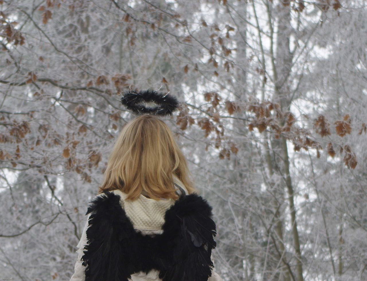 Série 3/6 Winter is comming ! Angel Frozen Nature Cold Temperature Long Hair Blond Hair Portrait Girl