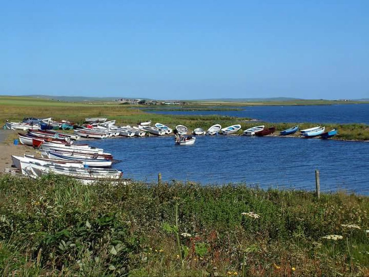 Rows Of Things Rowing Boats Boats Water Loch  Stennessloch Stenness Patterns Orkneyislands Johnnelson Lifeasiseeit Scotland