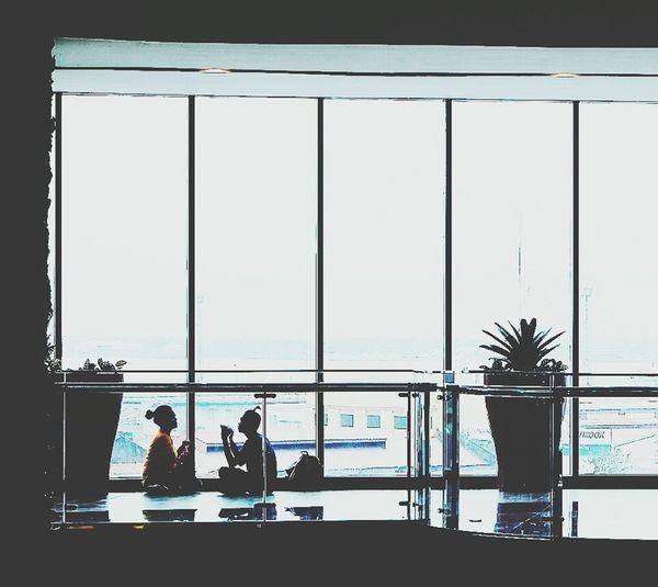 Window Business Silhouette Men People Glasswindows
