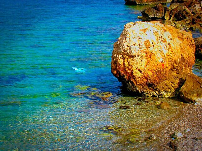 Q Quiet Places Rock Rock Formation Sea Rock And Sea Crystal Clear Waters Clear Water Showcase March Shades Of Blue Blue Sea Reflection Water Reflections Reflected Glory Beach Life Is A Beach Beach Photography Summer Memories 🌄 Summer Views Blue Wave Tranquil Scene A Moment Of Zen... The KIOMI Collection Nature On Your Doorstep Nature