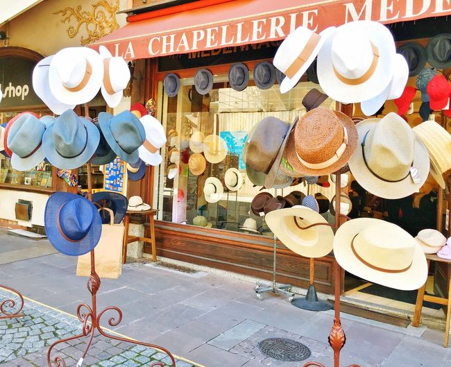 Communication Variation Large Group Of Objects Abundance Group Of Objects Person Retail  Outdoors In Front Of Cap Hat Shopping ♡ Old Shop Vintage Strasbourg France Europe Trip