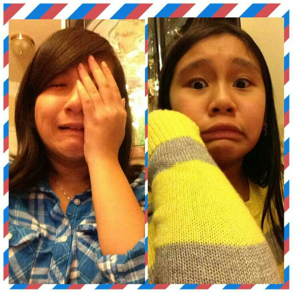 Our facial expressions be lookin too weird.,,forreal.,,'* :>0<3