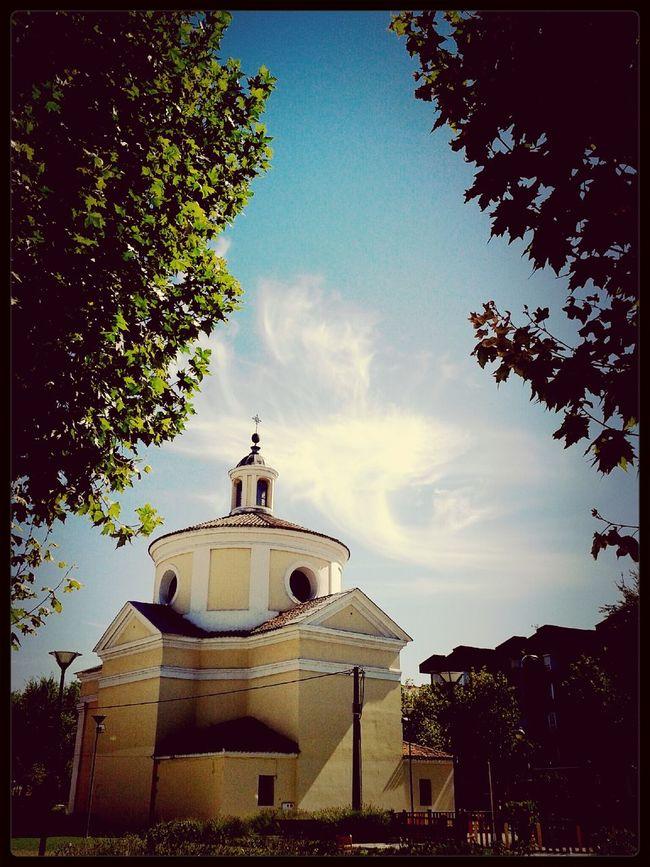Streetphotography Street Sky Blue iglesia #samsung #samsungphoto #photography #samsungstreet #madrid #city