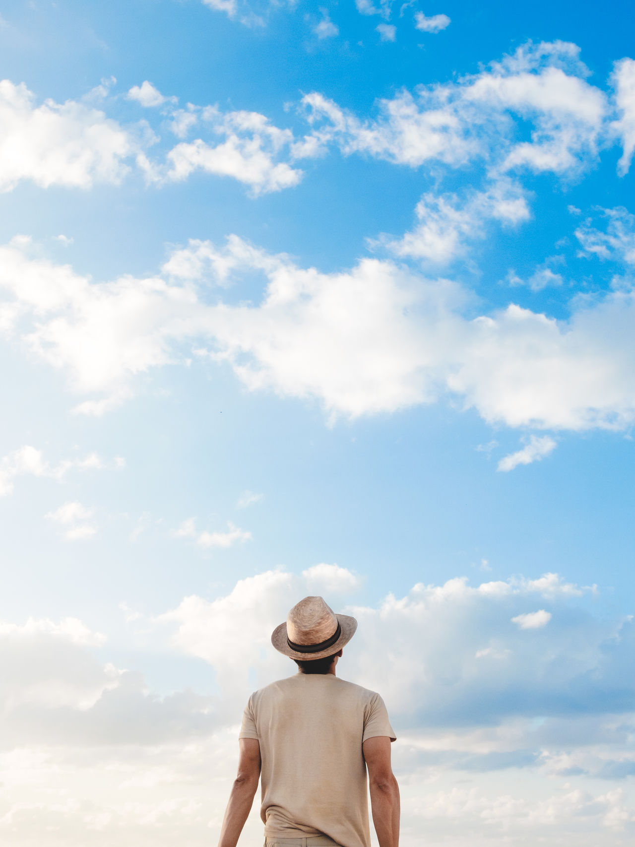 Beyond Cloud - Sky Day Destiny Future Hopes And Dreams Nature One Person Outdoors People Real People Sky Sky Is The Limit Young Men