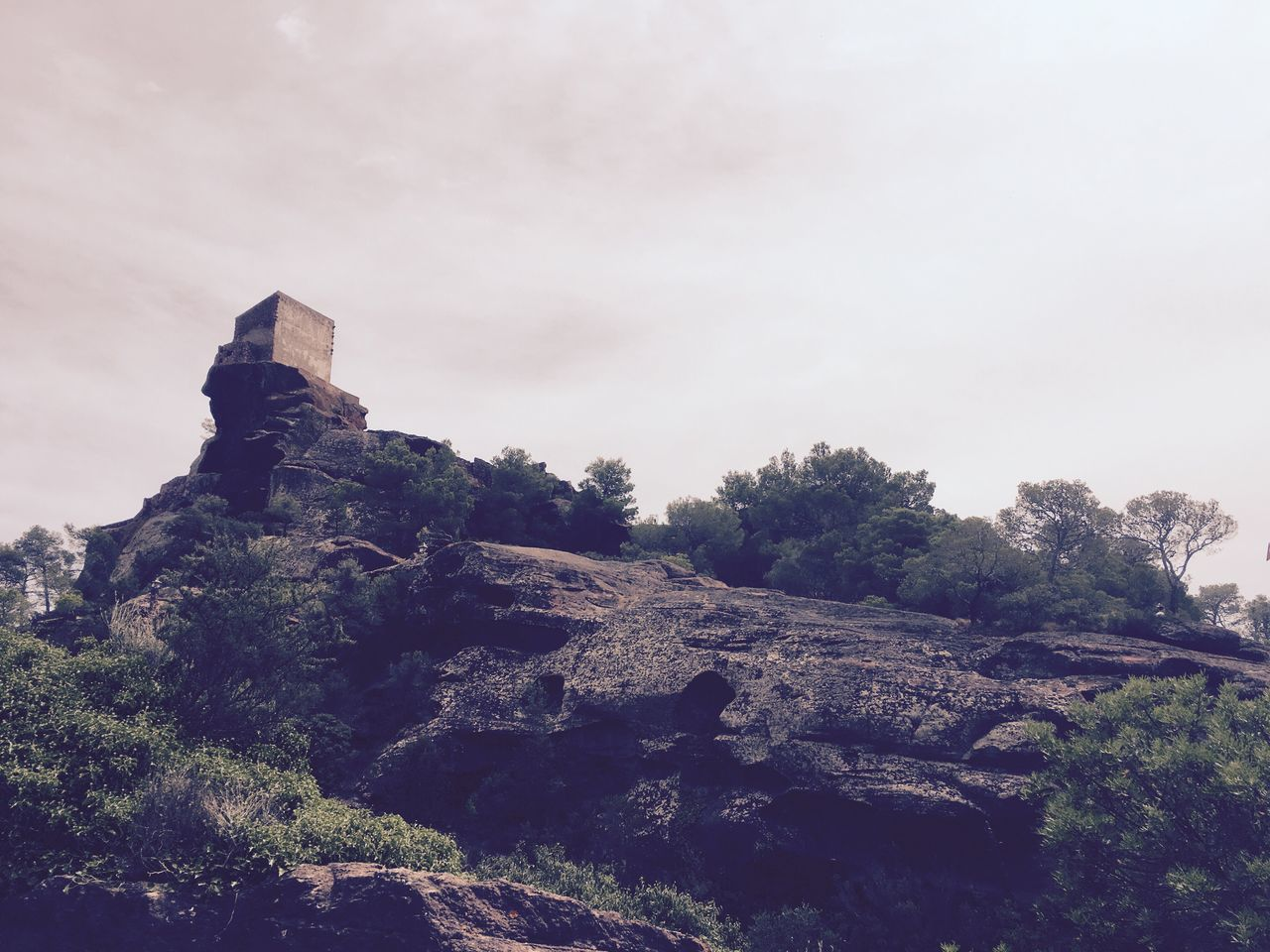 Mate de deu de la roca Ermita, Santuario Monte Campo Altura Cielo Nubes IPhone IPhone 6s Smartphone Photography Landscape