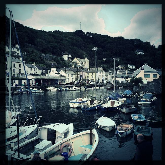 Taking Photos in Polperro Cornwall with Hipstamatic Love Summer by the Coast Boats in the Harbour