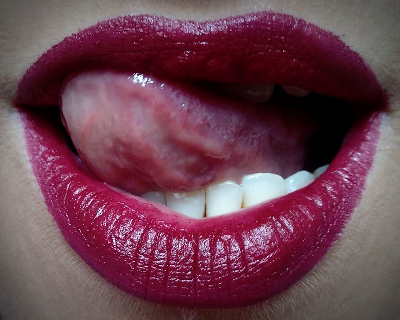My Lips Lipstick Showing Imperfection Women Of EyeEm Woman Lips Marsala Marsalacolor Woman Face Woman Model Mouth/Lips Album Mouth Open Mouth Wide Open