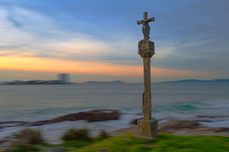 Cruceiro, Celtic Cross Architecture Balance Celtic Celtic Cross Cloud - Sky Cross Cruceiro Galicia Guidance Horizon Over Water Outdoors Sea Silhouette Vigo
