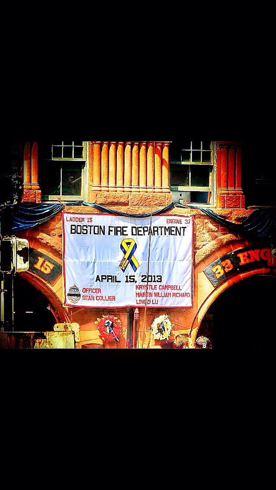Bostonstrong Firestatuon Fujifilm Boston Marathon