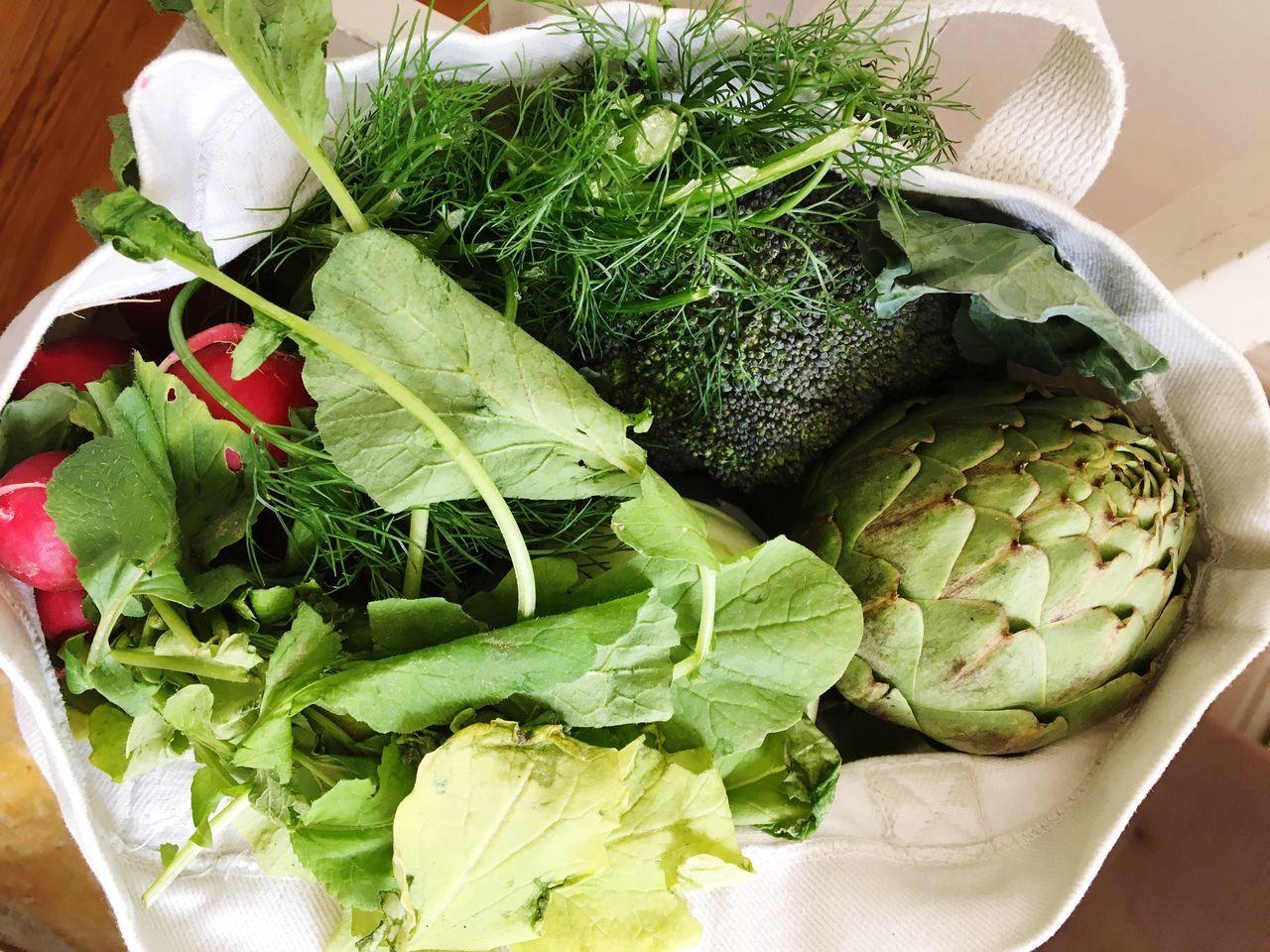 Greens Grocery Shopping Organic Vegetables Organic Food Freshness Healthy Eating High Angle View Directly Above Green Color Vegetable Verdura Lebensmittel Einkaufen Organic Bio No Plastic Zero Waste Cloth Bag
