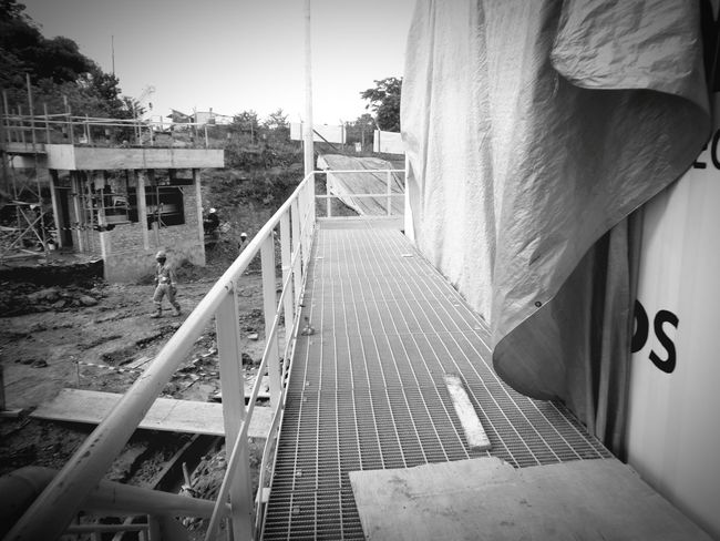 Built Structure Building Exterior Outdoors Day Man Made Object Black And White Photography Black And White Non-urban Scene Worker Construction Occupation