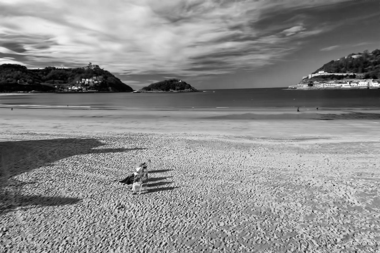 Sunbathing☀ Beach Life Life Is A Beach Beach Sand Sea Outdoors Day Seaside Flying High Blackandwhite Photography