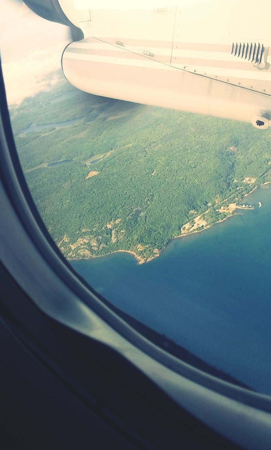 Birds Eye View Airplane View Flying To Toronto Amazing Landscape