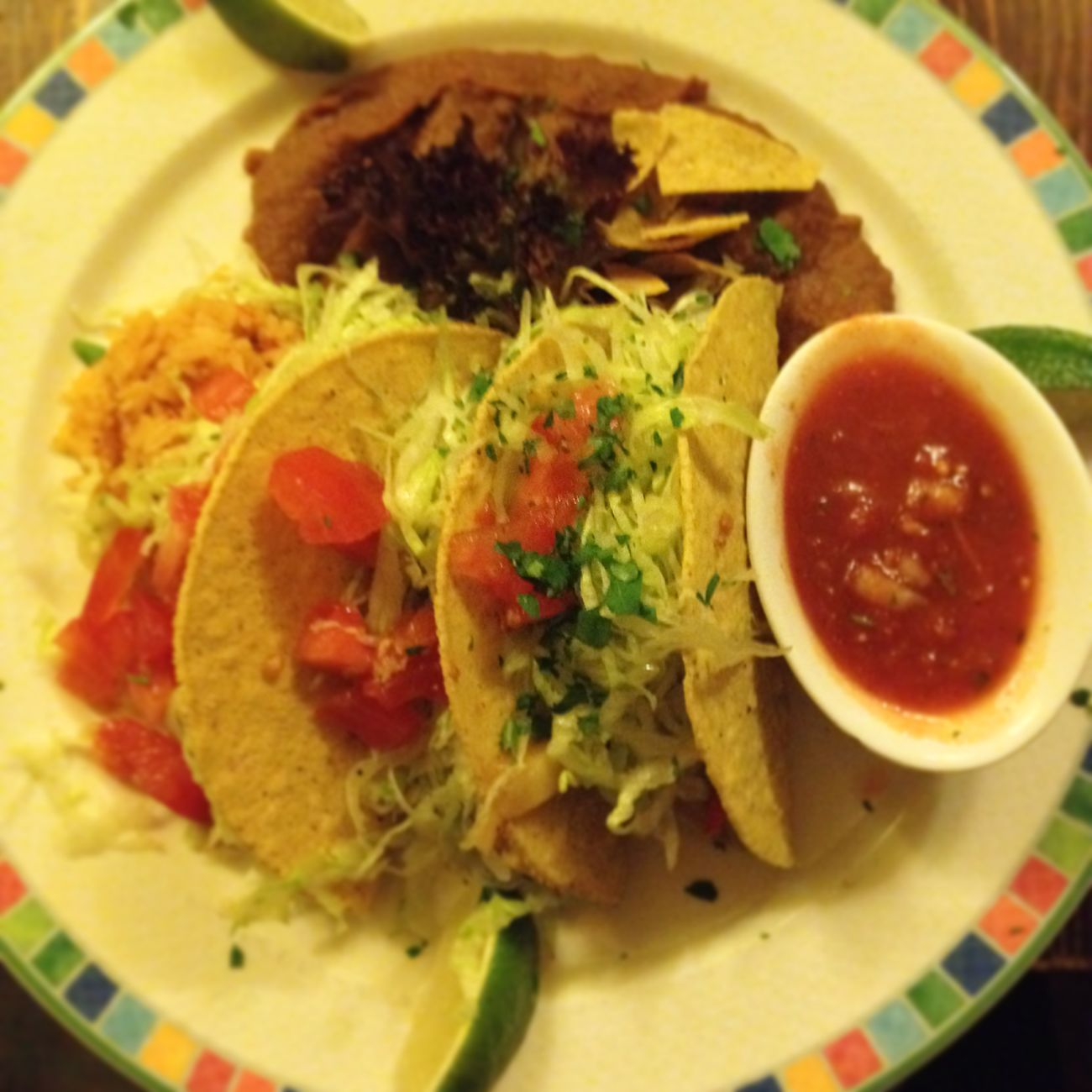 Vegan Dinner Taco Friends Birthday Salad Tomato Spicy
