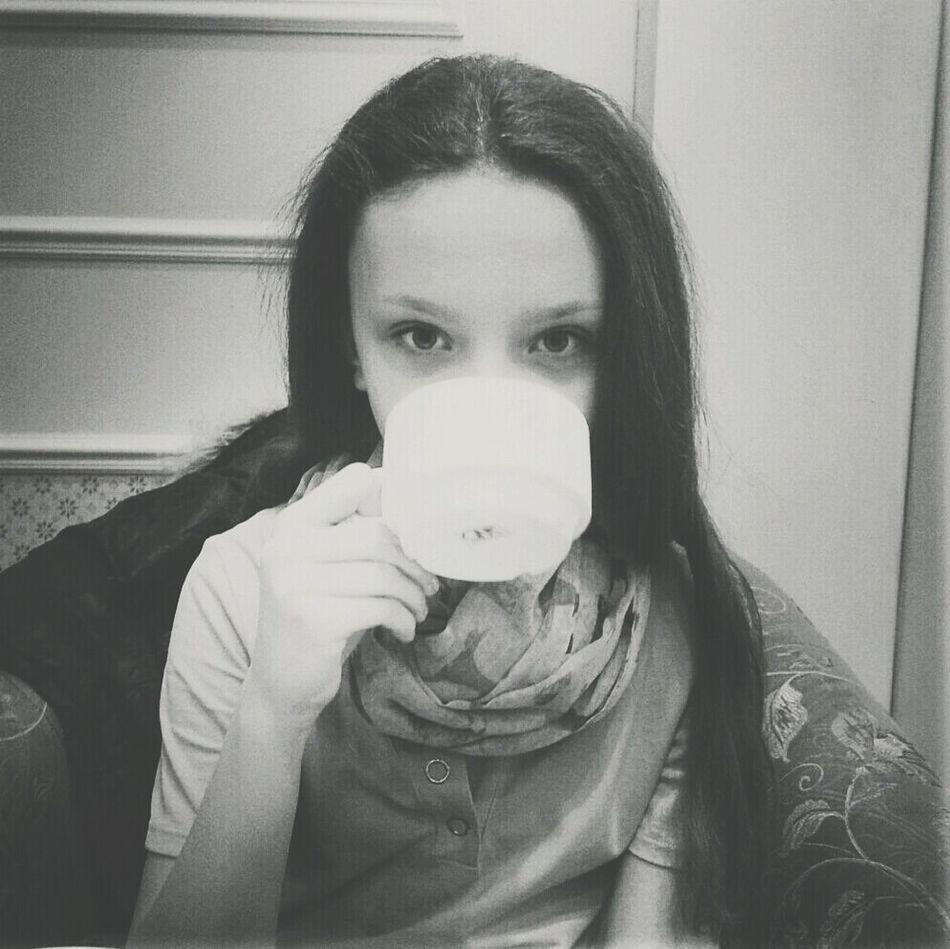 coffee time Sweet People Blackandwhite Enjoying A Cup Of Coffee