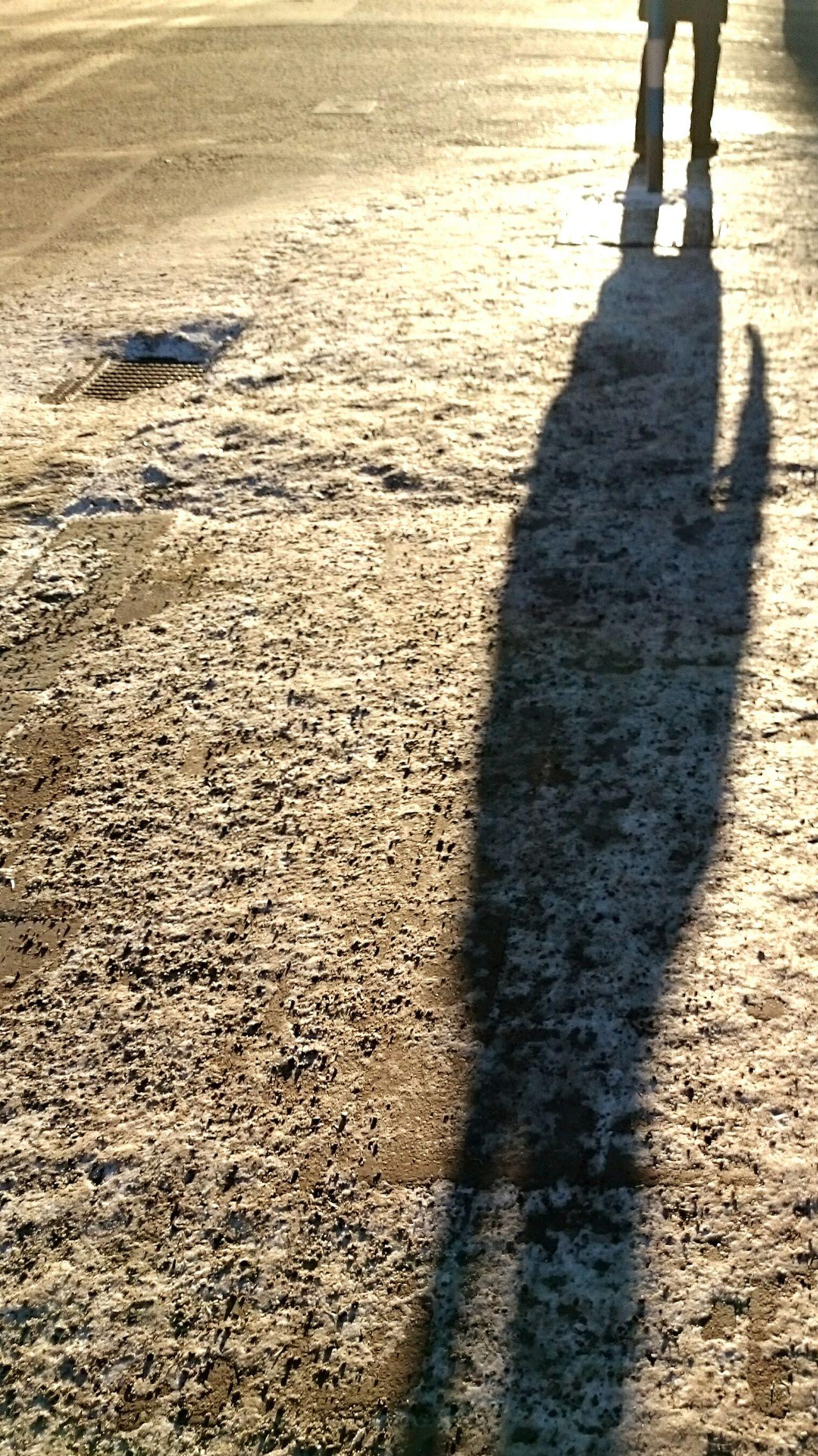 The long Shadows in January Skeppargatan Östermalm