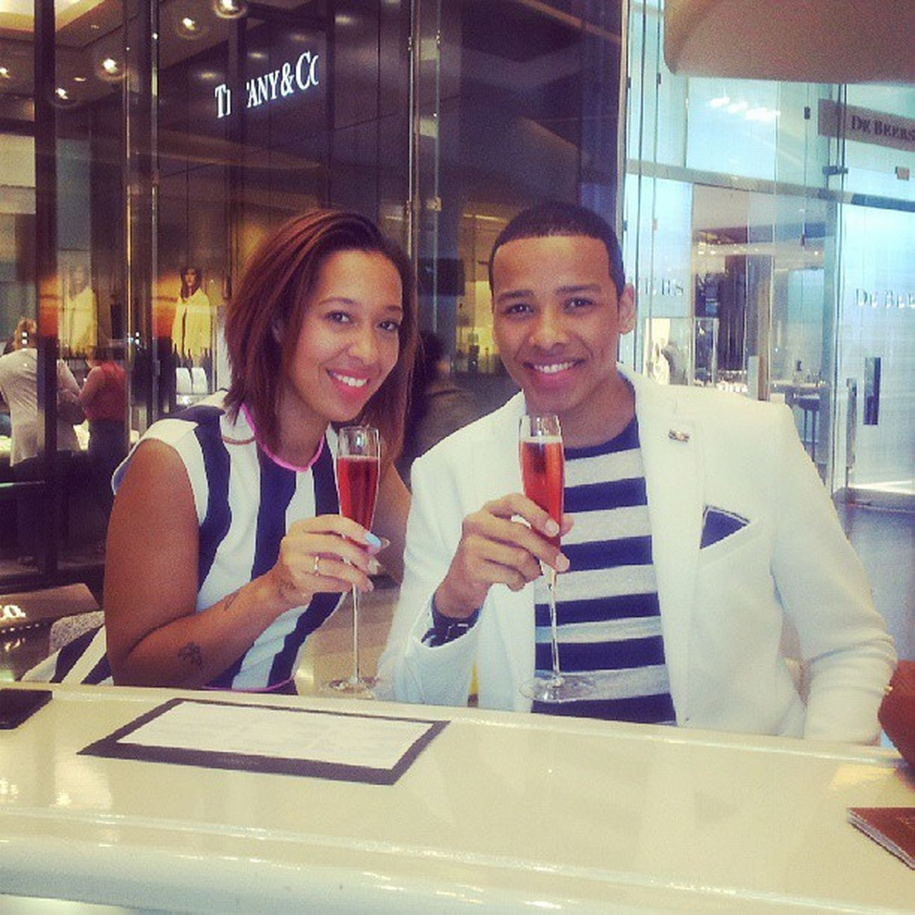 Shampagne Tine with @malaika03 Posh Drinks London WestfieldMall red matchingoutfits accidental fashionstylist instafashion igers tbt igdaily instamood hqppy
