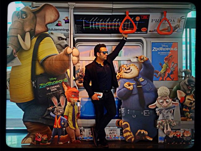 "I'm Leaving on the train to Zootopia where all animals live equally in Harmony. Farewell everyone! ""Free Bird"" Gilbert Simon🎶✌️😎👍🐰🐺 Escaping Freedom Metro Train Zootropolis Zootopia Free Bird"