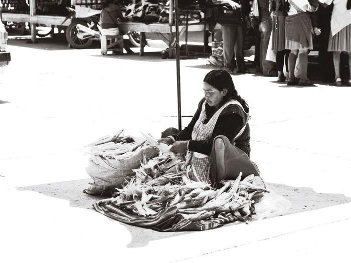 central market Monochrome Street Photography Sucre