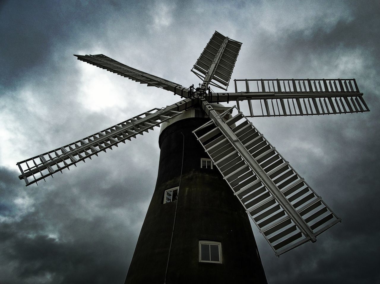 First Eyeem Photo Windmill Clouds Storm Mill Building