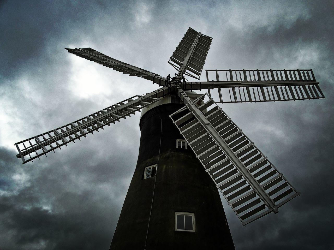 First Eyeem Photo Windmill Clouds Storm Mill Building