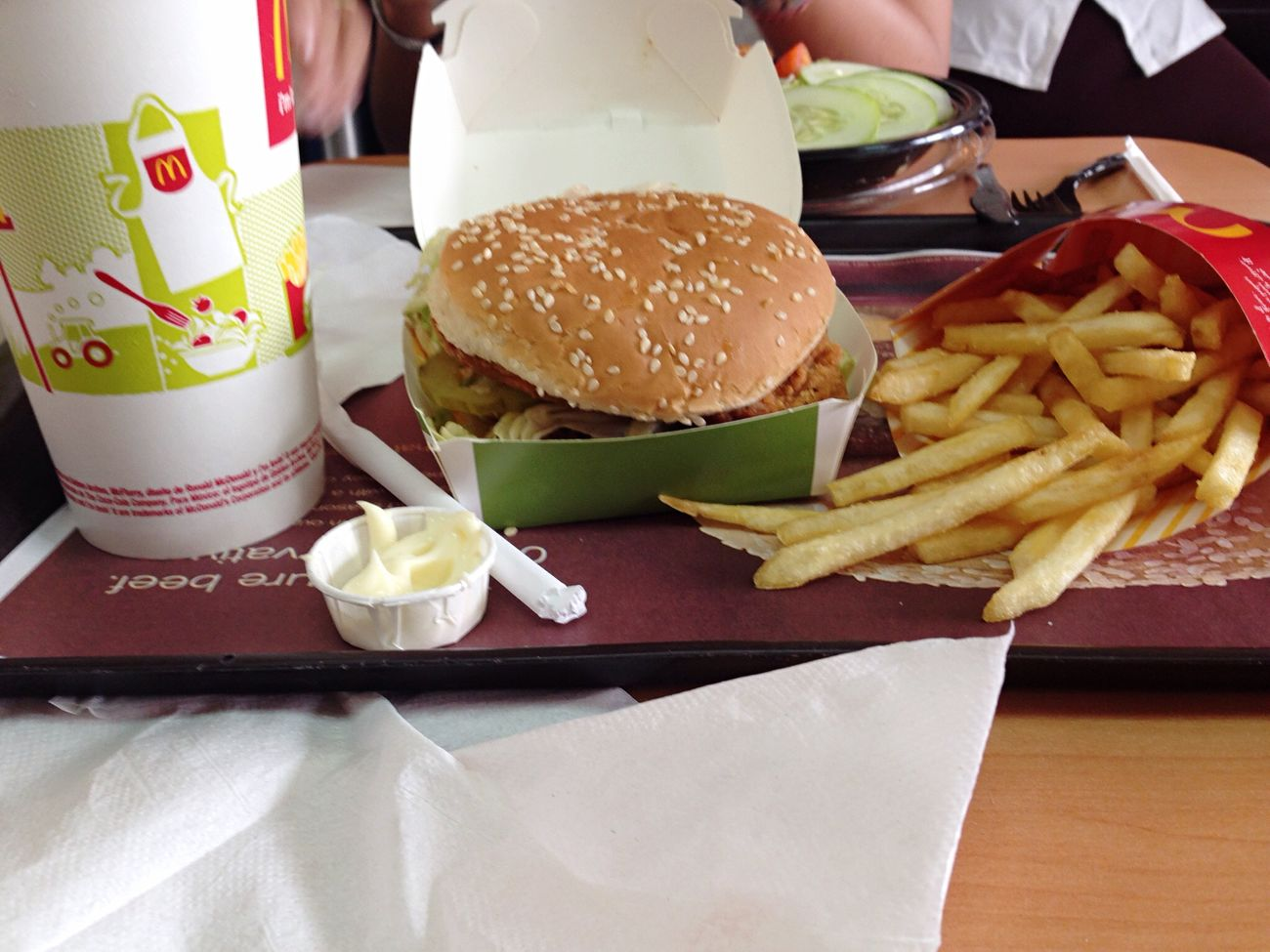 Hello World Foodporn McDonald's Surinam Food I'm Loving It. Travel Enjoying Life