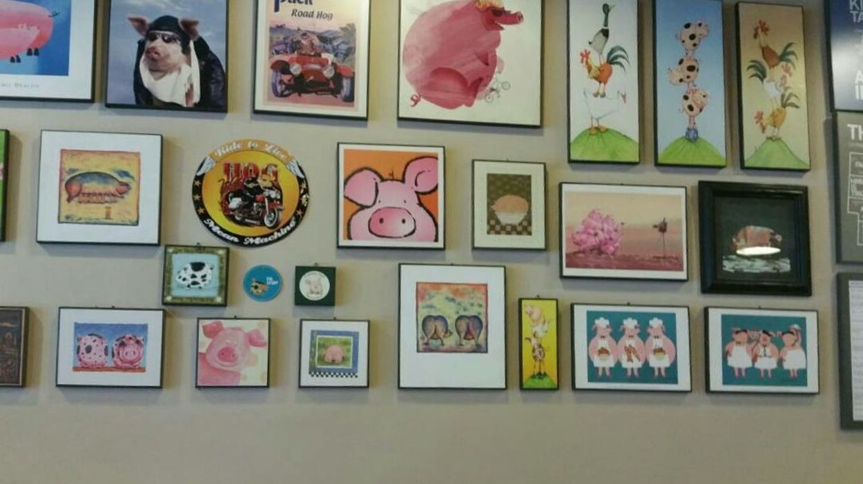blur pig 🐷 Picture Frame Wall Art Wall EyeEmNewHere Von Painted Image Indoors