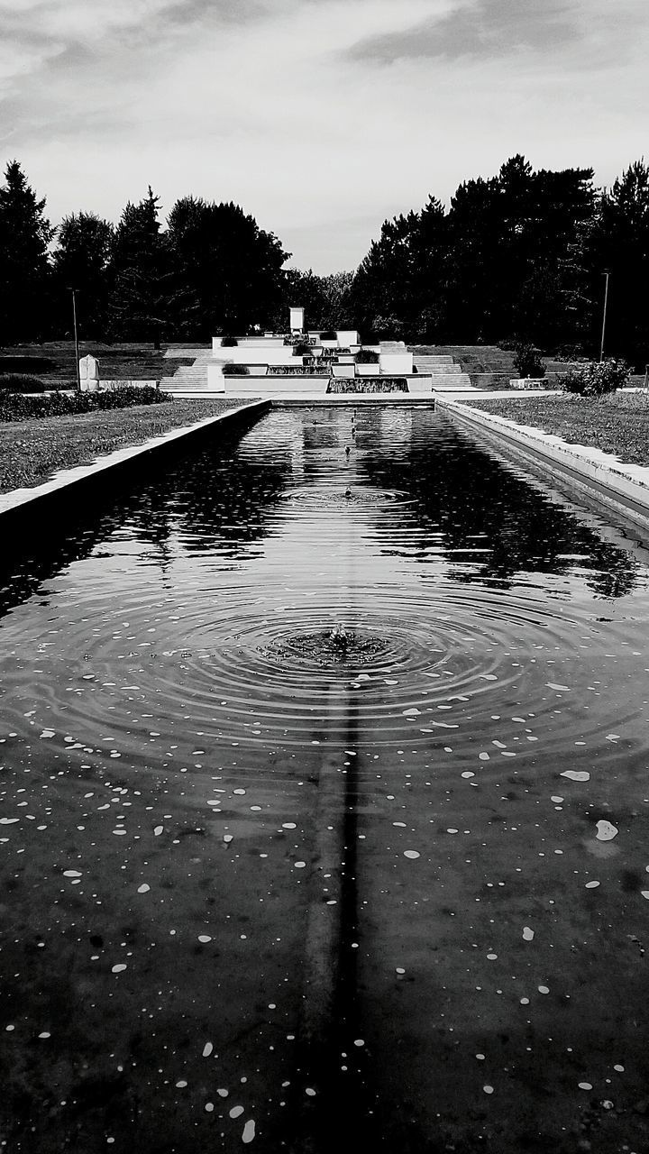 water, reflection, wet, tree, puddle, no people, outdoors, day, nature, swimming pool, sky, flood