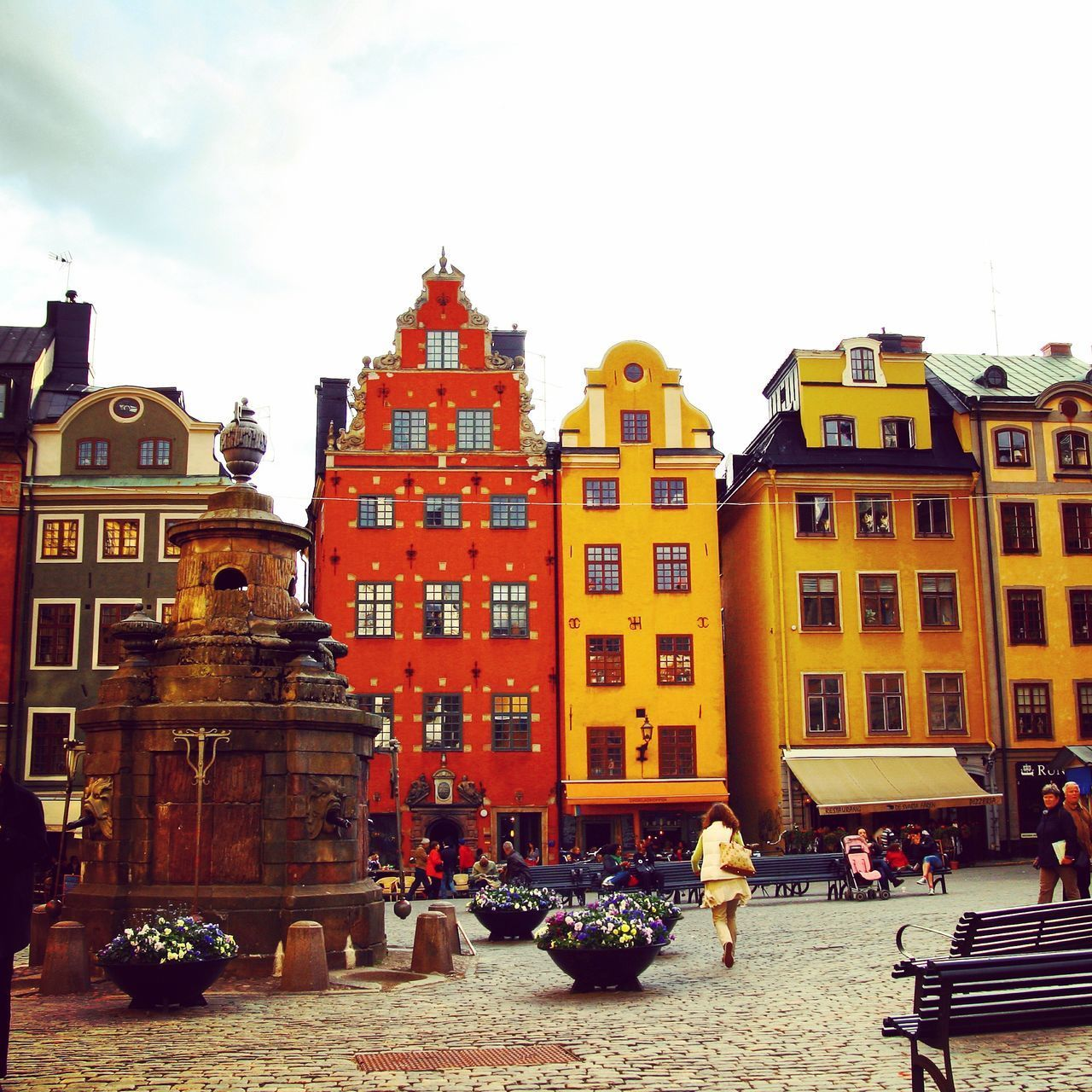 Architecture Building Exterior Built Structure City City Life Day Men One Person Outdoors People Real People Sky Stockholm Women