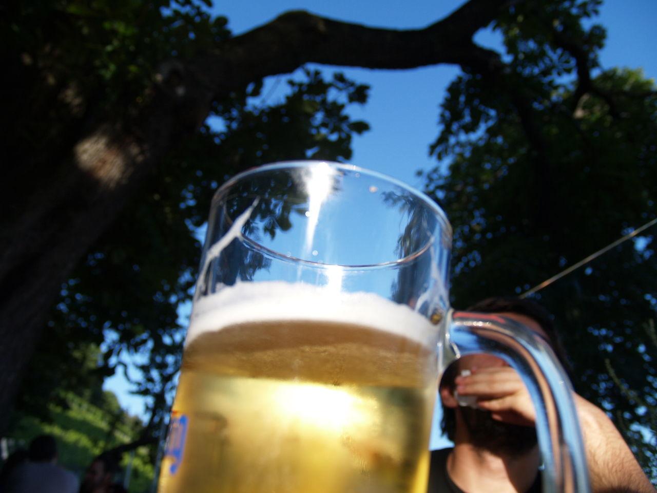 Photos of Freiburg, Germany 2007 Beer Beer Glass Beer Mug Half Full Half Full Or Half Empty? Mug Sun Sunshine Lieblingsteil
