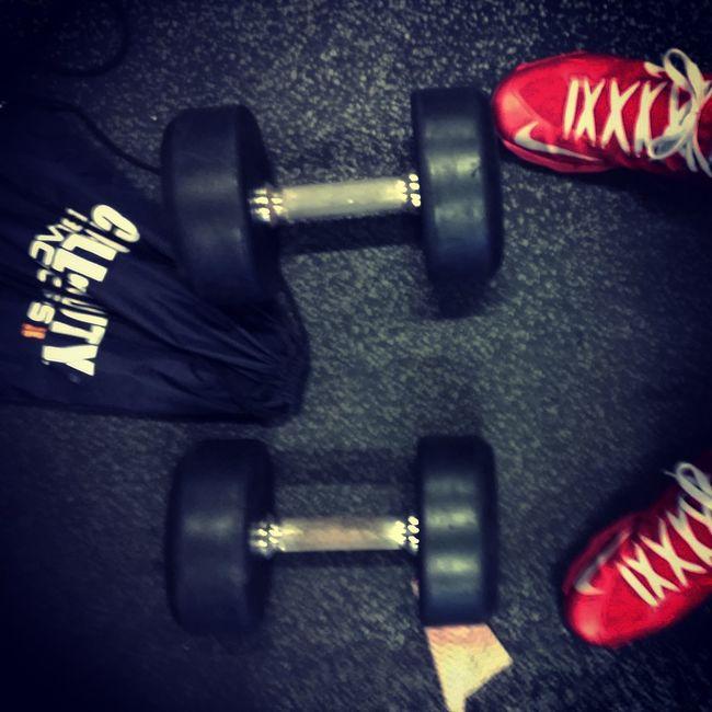 Working Out Pumpin' Iron Gym Having Fun