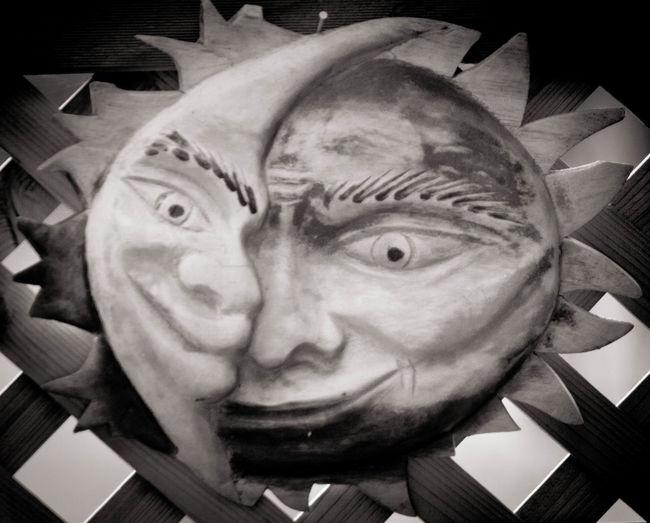 I prefer the sun Art Blackandwhite Craft Creativity Dual Personality Moon Sculpture Sun