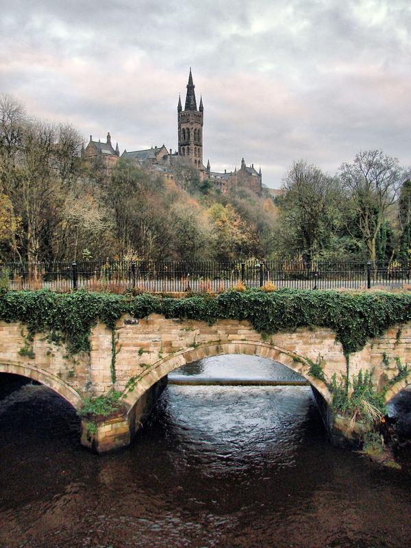 Glasgow  Glasgow University Glasgow Riverside Scottish Scenery Scottish Winter