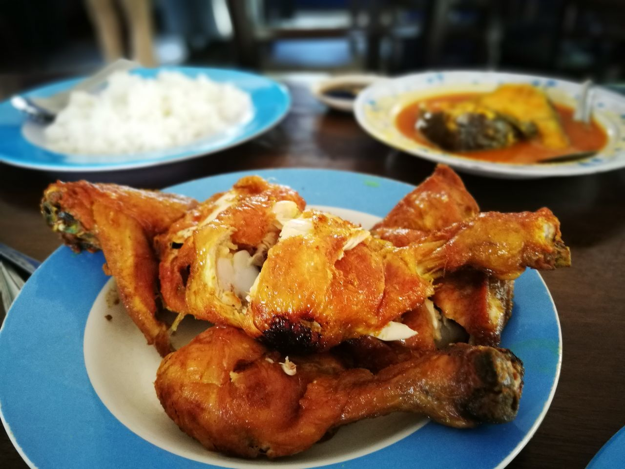 Roast Chicken Food Malaysianfood Culture Localfood Temerloh Pahang, Malaysia