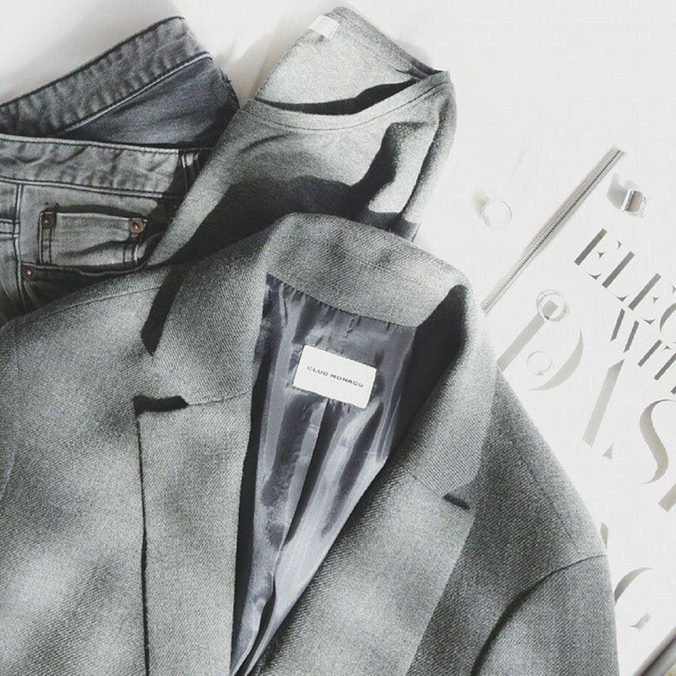 ➕Fall for Grey ➕ Fall Allgrey Ootd Clubmonaco nobrand fashion styling 데일리룩