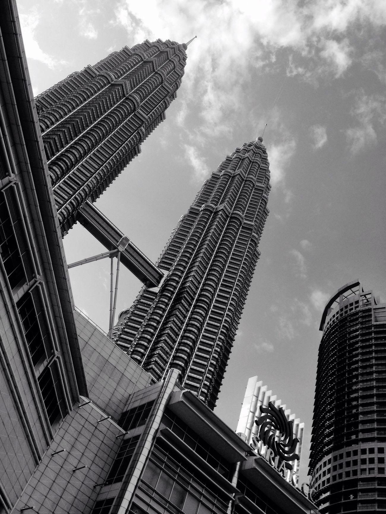 Cityscapes City Monochrome Photography Sky Building Exterior Building Architecture Black And White Photography Blackandwhite Photography Black & White Black And White Blackandwhite Kualalumpur Kuala Lumpur Malaysia  Kuala Lumpur Malaysia Klcc Twin Towers KLCC Twin Towers Twin Towers Malaysia KLCC Tower KLCC Park Two Is Better Than One Battle Of The Cities Dramatic Angles
