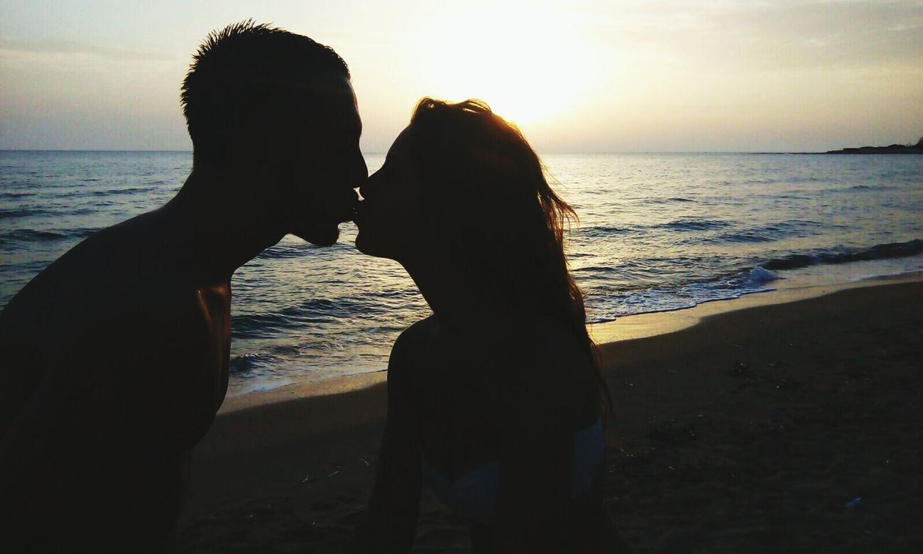 Sicilia Emotion Emotions Captured Sunset Sea Beach Two People Love Lovehim Life Ombre Noi Amoregrande Scenics Sky Summer Memories