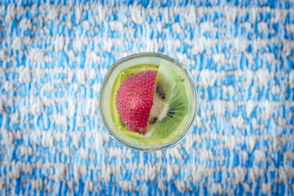 Chia Seed Close-up Day Directly Above Drink Drinking Glass Food Food And Drink Freshness Fruit Healthy Eating High Angle View Indoors  No People SLICE Smoothie