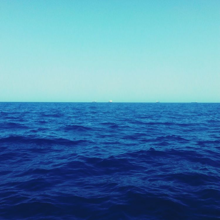 Blue Sea Beauty In Nature Clear Sky No People Tranquility Scenics RedSea Sudan in Portsudan city