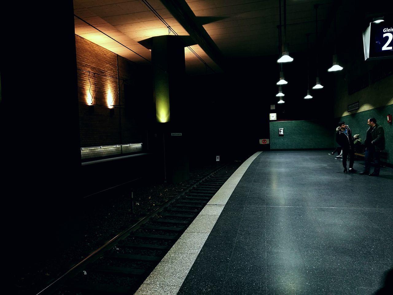 Indoors  Illuminated Architecture City Night Transportation The Way Forward Building Exterior City Life Light Trail Architecture Underground Passage