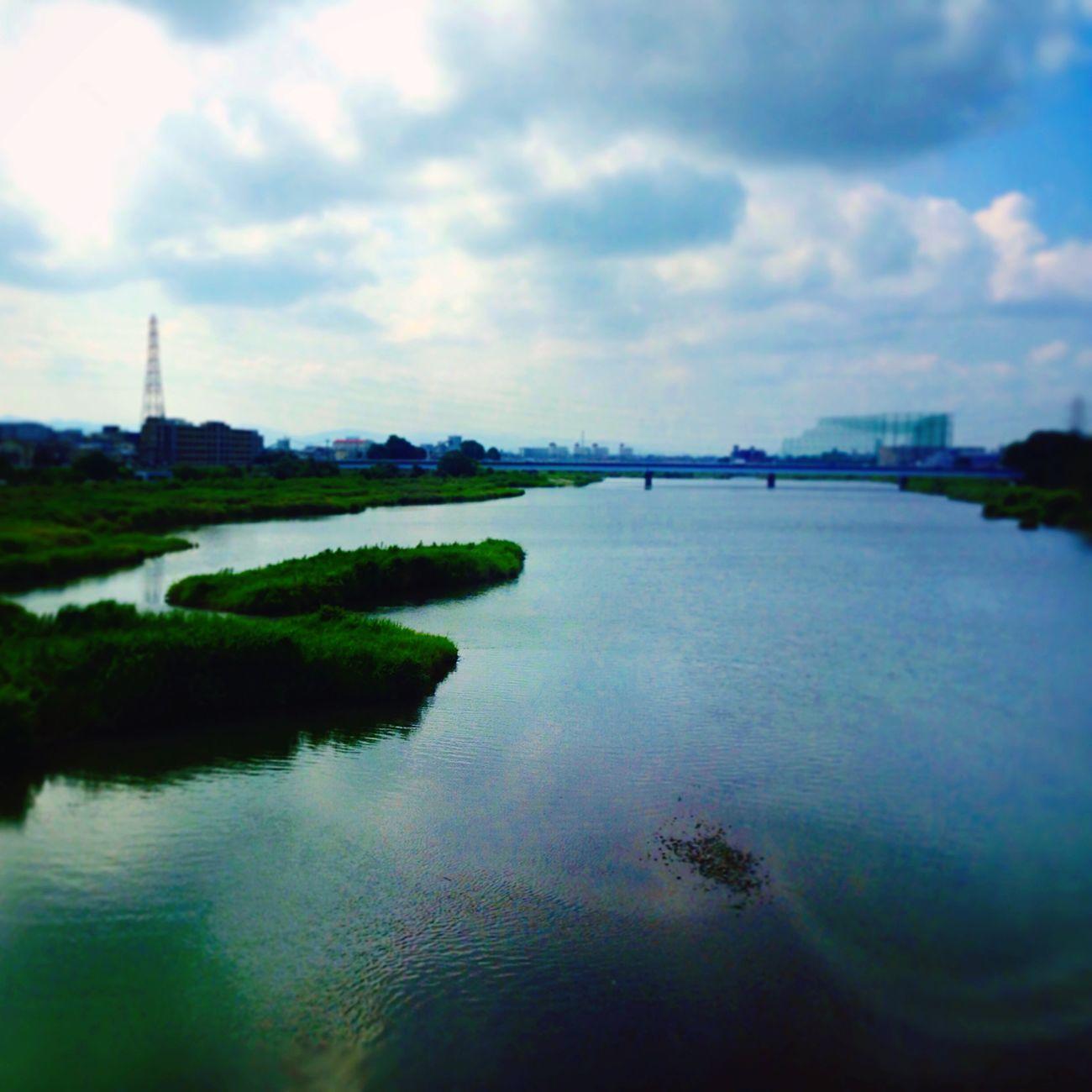 桂川 橋の上から、いつもの 車窓